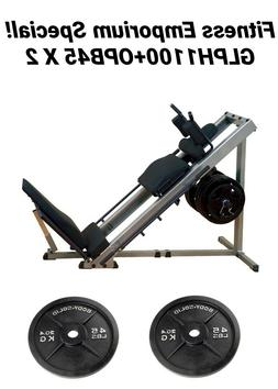 Body-Solid Leg Press & Hack Squat  45lb x 2 Olympic Plates I