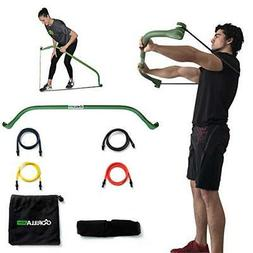 Gorilla Bow Portable Home Gym Resistance Band System | Weigh