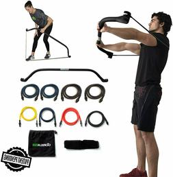 Gorilla Bow Portable Home Gym Resistance Band System - Heavy