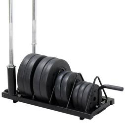 Bumper Plate Weight Lifting Olympic Bar Barbell Rack Holder
