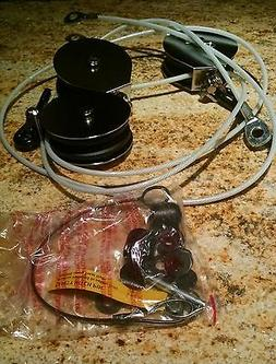 Total Gym Cable Kit w/Pulleys,Safety Pin & Replace Accessori