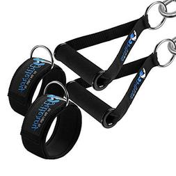 Fitteroy Cable Machine Attachments Handles and Ankle Straps