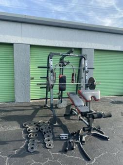 Smith Cable Machine. Comes With Weights 255lbs  Home Gym