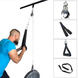 CABLE PULLEY FITNESS HOME ARM WORKOUT MULTI GYM EQUIPMENT HA
