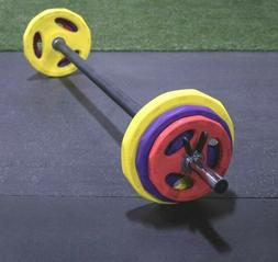 Strencor Cardio Barbell Pump Set - 35 lbs Weight Plates & We