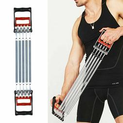 CHEST EXPANDER ADJUSTABLE SPRING EXERCISE Workout w/ Removab
