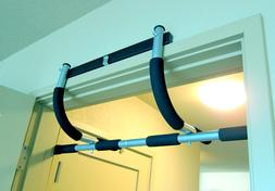 Chin Pull Up Bar Mounted Doorway Extreme Home Gym Fitness Wo