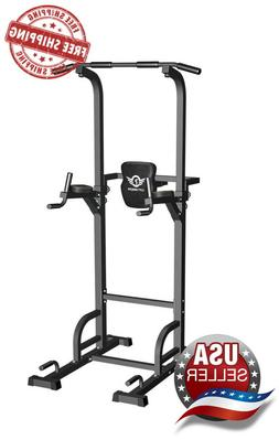 CITYBIRDS Power Tower Dip Station Pull Up Bar for Home Gym S
