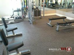 Commercial Gym Flooring from Fitfloors.com - 4ft x 10ft Rubb