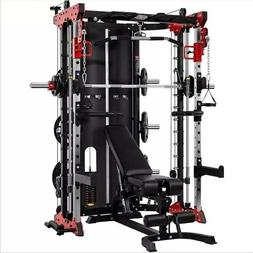Commercial Style Home Gym - Smith Machine, Cables with Built