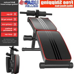 Decline Adjustable Foldable Sit Up Bench Press Weight Home G