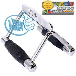 CAP Barbell Deluxe Gym Double D Handle with Rubber Handgrips