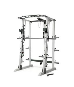 Marcy Deluxe Home Gym Smith Machine, Olympic Rack, And Cable