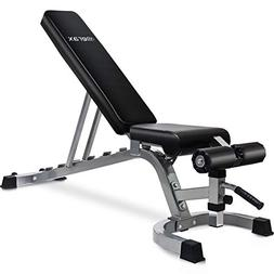 Merax Deluxe Utility Weight Bench Adjutable Sit Up AB Inclin