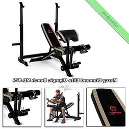 Marcy Diamond Elite Olympic Bench Adjustable Benches Weight