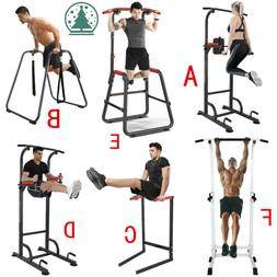 Dip Station Chin/Pull Up Power Tower Push Bar Exercise Home