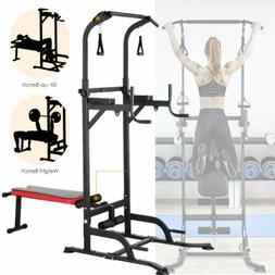 Dip Station Chin Up Bar Core Power Tower Pull Push Home Gym