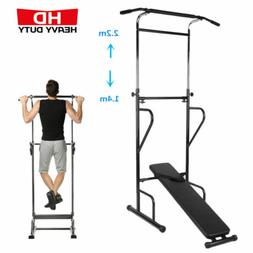 Dip Station Chin Up Bar Power Tower Pull-up Push Home Gym Fi