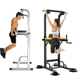 Dip Station Chin Up Bar Power Tower Pull Stretch Training Ho