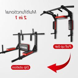 OneTwoFit Dip Station Chin Up Bar Power Tower Pull Push Home