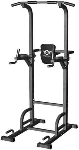 Power Tower Dip Station Pull Up Bar for Home Gym 400LBS