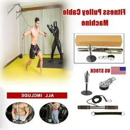 DIY Fitness Pulley Cable Machine Gym Workout System Equipmen