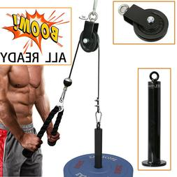 DIY Home Gym Cable Pulley System with Loading Pin for Pull D