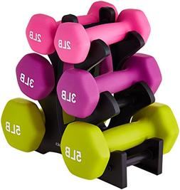 Weight Dumbbell Set Hand 20 Pound With Stand Woman Man Sport