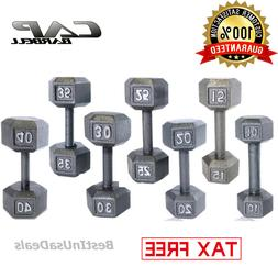 CAP Barbell Dumbbells Cast Iron PAIR Hex Weight Fitness Gym