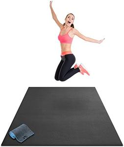 "Premium Large Exercise Mat - 6' x 4' x 1/4"" Ultra Durable, N"