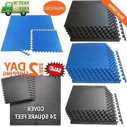 Exercise Floor Mat Gym Foam Interlocking Tiles Garage Home F