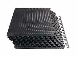 Exercise Floor Mat Gym Rubber Flooring Tiles Garage Home Fit