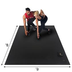 Gxmmat Extra Large Exercise Mat 6'x8'x7mm for Home Gym Floor