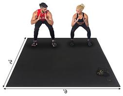 Gxmmat Large Exercise Mat 72''x60'' x 7mm Ultra Durable, Non