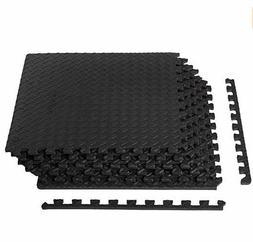AmazonBasics Exercise Mat with EVA Foam Interlocking Tiles B