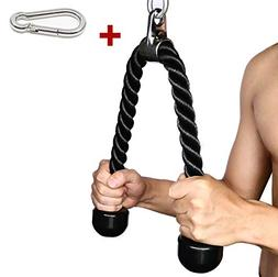 Tricep Rope Fitness Attachment Cable Machine Pulldown Heavy