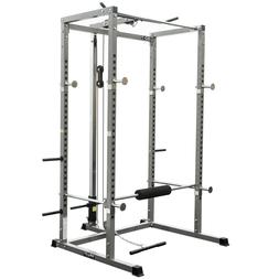 Valor Fitness BD-7 Power Rack with Lat Pull & Pull Up Statio