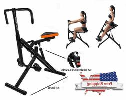 fitness crunch total abdominal machine horse rider