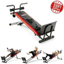 Home Gym System Adjustable Bench Fitness Exercise Pulley Mac