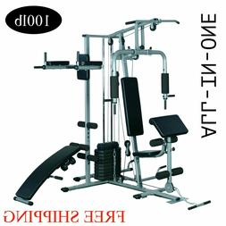 Full Body Home Gym Fitness Machine With Weight Stack 100lb
