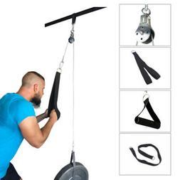 Fitness Pulley Cable Gym Exercise Equipment Machine System H
