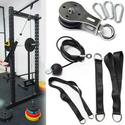 Fitness Pulley Cable Gym Workout Equipment Machine Attachmen