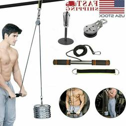 fitness pulley cable machine gym workout system