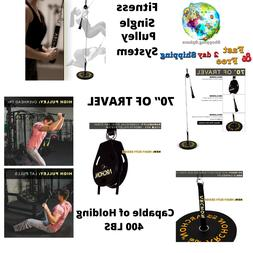 Fitness Single Pulley 70 Inch Cable Station Machine System 4