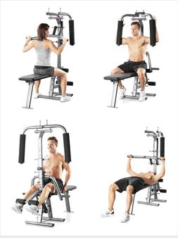Weider Flex CTS Resistance Bench Press Butterfly Front & Bac