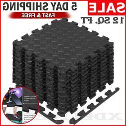 Floor Mat Exercise GYM RUBBER FLOORING Tiles Garage Home Fit