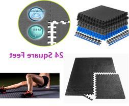 Floor Mat Exercise  Tiles Garage Home Fitness  GYM RUBBER FL