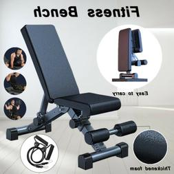 Foldable Dumbbell Bench Weight Training Fitness Incline Adju
