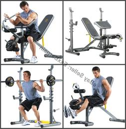Gold's Gym XRS 20 Olympic Utility Bench Weight Home Gym Tota