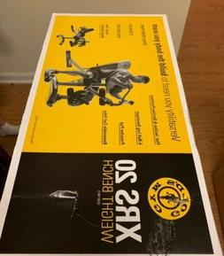 Gold's Gym Xrs20 Olympic Workout Weight Bench Squat Rack Pre